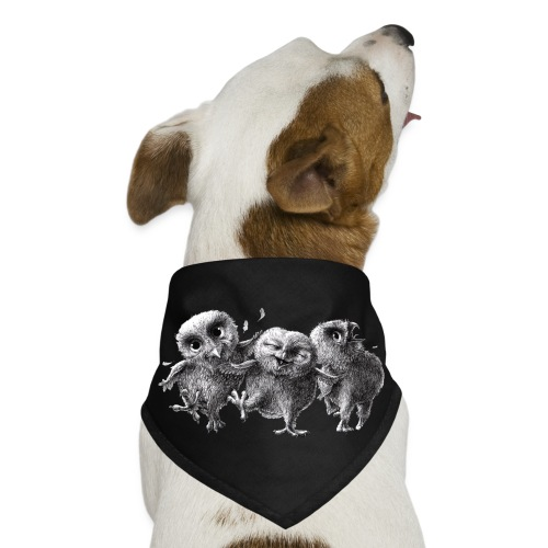 Three Crazy Owls - Dog Bandana
