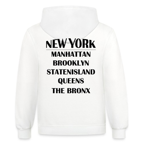 Boroughs of New York City - Contrast Hoodie
