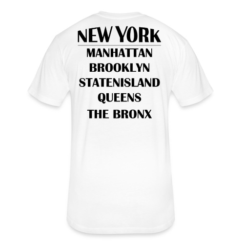 Boroughs of New York City - Fitted Cotton/Poly T-Shirt by Next Level