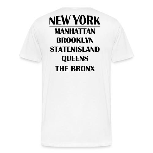 Boroughs of New York City - Men's Premium T-Shirt