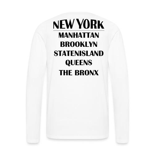 Boroughs of New York City - Men's Premium Long Sleeve T-Shirt