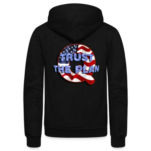 Q TRUST THE PLAN - Unisex Fleece Zip Hoodie