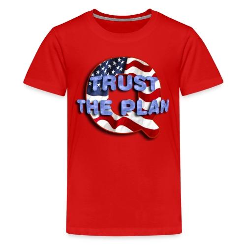 Q TRUST THE PLAN - Kids' Premium T-Shirt
