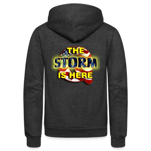 Q THE STORM IS HERE - Unisex Fleece Zip Hoodie