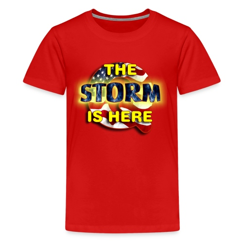Q THE STORM IS HERE - Kids' Premium T-Shirt
