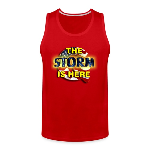 Q THE STORM IS HERE - Men's Premium Tank