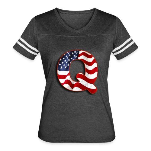 Q SHIRT - Women's Vintage Sport T-Shirt