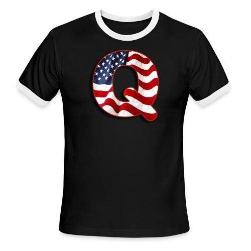 Q SHIRT - Men's Ringer T-Shirt