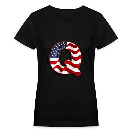 Q SHIRT - Women's V-Neck T-Shirt