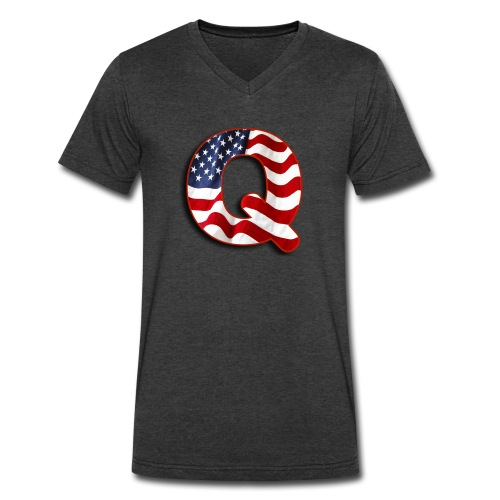 Q SHIRT - Men's V-Neck T-Shirt by Canvas