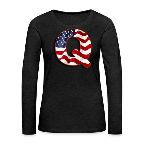 Q SHIRT - Women's Premium Long Sleeve T-Shirt