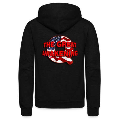 Q THE GREAT AWAKENING - Unisex Fleece Zip Hoodie
