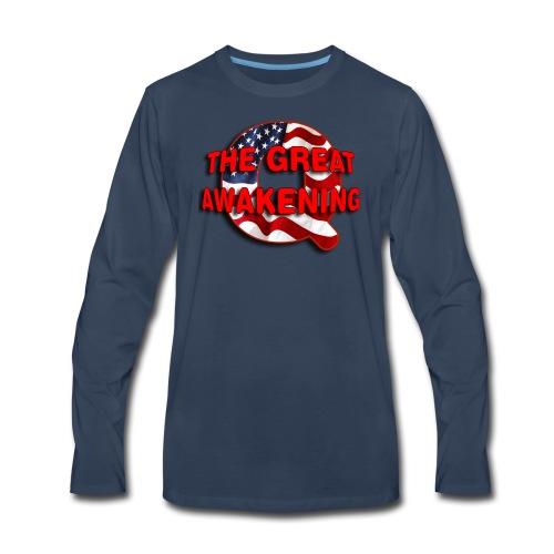 Q THE GREAT AWAKENING - Men's Premium Long Sleeve T-Shirt
