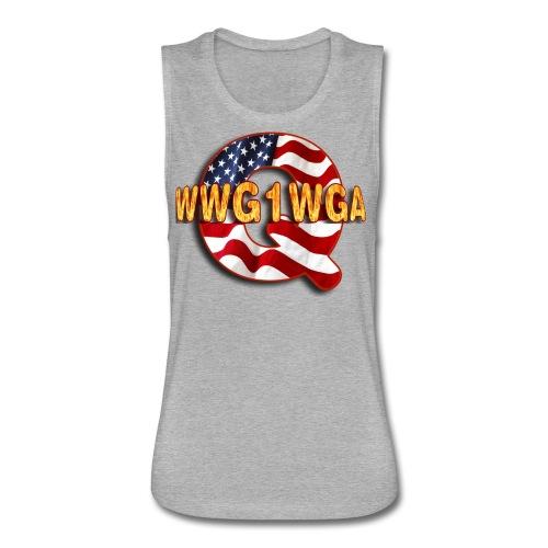 Q WWG1WGA - Women's Flowy Muscle Tank by Bella
