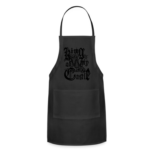 KING OF MY CASTLE Tee blk & wht - Adjustable Apron