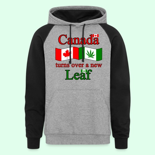 CANADA TURNS OVER NEW LEAF - Colorblock Hoodie
