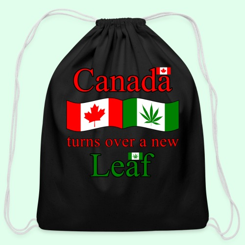 CANADA TURNS OVER NEW LEAF - Cotton Drawstring Bag