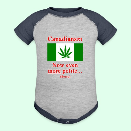 Canadians now even more polite sorry - Contrast Baby Bodysuit