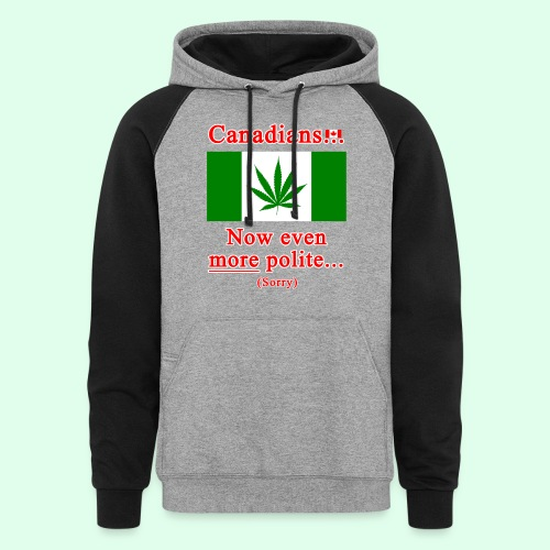 Canadians now even more polite sorry - Colorblock Hoodie