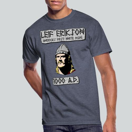 Leif Erikson: America's First White Dude - Men's 50/50 T-Shirt