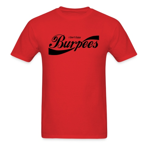 Enjoy Burpees - Red (Womens) - Men's T-Shirt