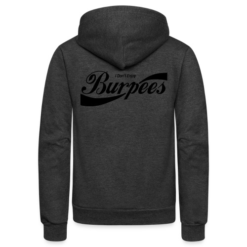 Enjoy Burpees - Red (Womens) - Unisex Fleece Zip Hoodie