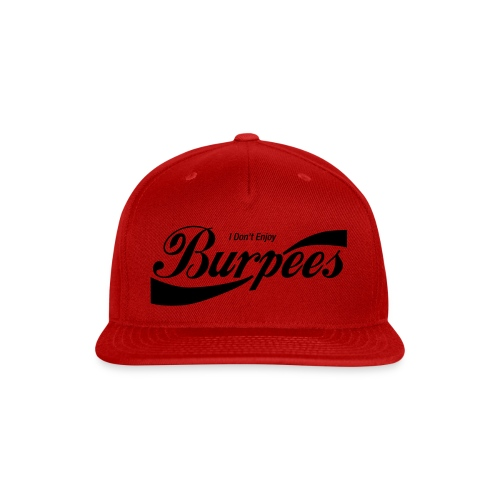 Enjoy Burpees - Red (Womens) - Snap-back Baseball Cap