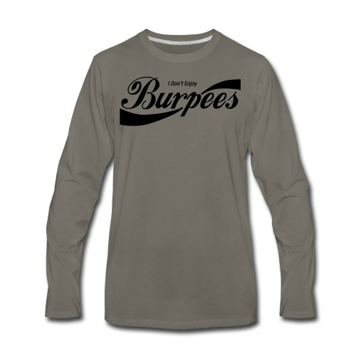 Enjoy Burpees - Red (Womens) - Men's Premium Long Sleeve T-Shirt