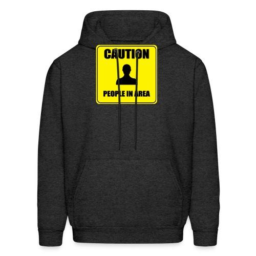 Caution - People in area - Men's Hoodie