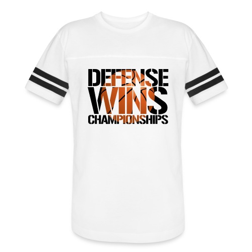 Defense Wins Championships Basketball - Vintage Sport T-Shirt