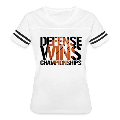 Defense Wins Championships Basketball - Women's Vintage Sport T-Shirt