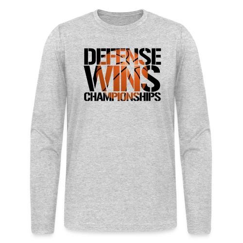 Defense Wins Championships Basketball - Men's Long Sleeve T-Shirt by Next Level