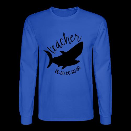 Teacher Shark Do-Do-Do-Do-Do - Men's Long Sleeve T-Shirt