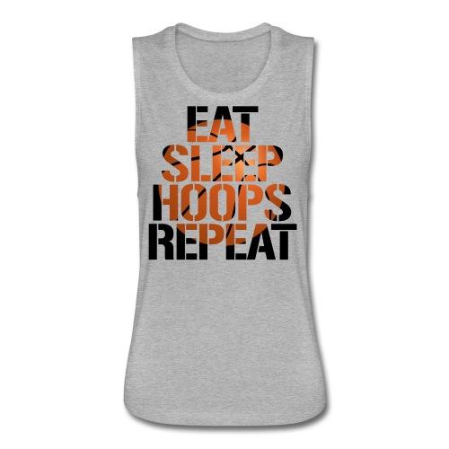Eat Sleep Hoops basketball shirt - Women's Flowy Muscle Tank by Bella