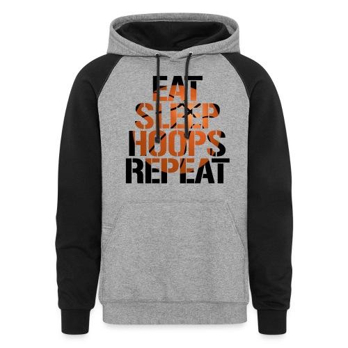 Eat Sleep Hoops basketball shirt - Colorblock Hoodie
