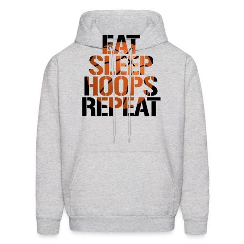 Eat Sleep Hoops basketball shirt - Men's Hoodie