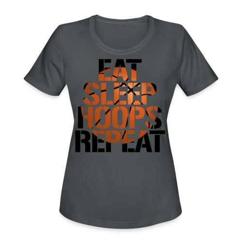 Eat Sleep Hoops basketball shirt - Women's Moisture Wicking Performance T-Shirt