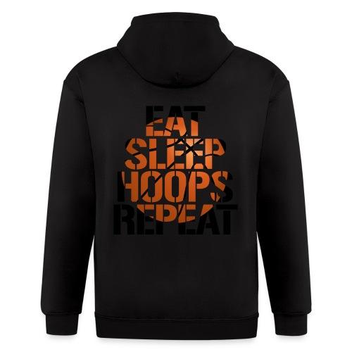 Eat Sleep Hoops basketball shirt - Men's Zip Hoodie
