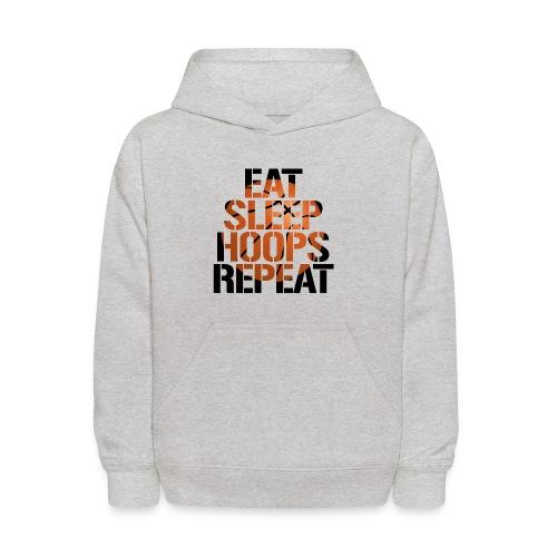 Eat Sleep Hoops basketball shirt - Kids' Hoodie
