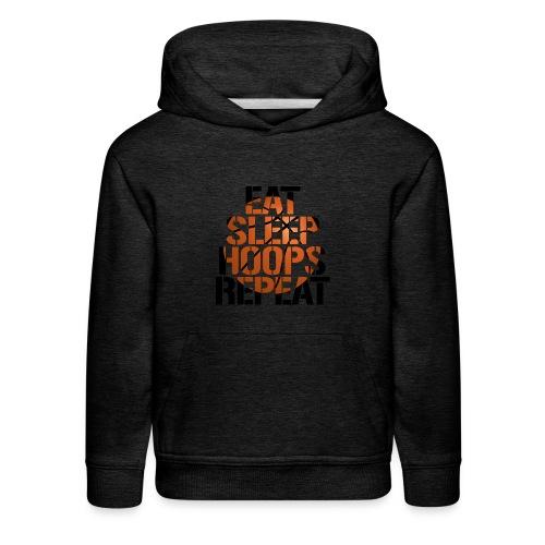 Eat Sleep Hoops basketball shirt - Kids' Premium Hoodie
