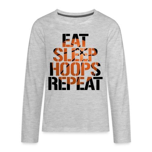 Eat Sleep Hoops basketball shirt - Kids' Premium Long Sleeve T-Shirt