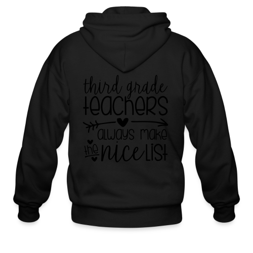 Third Grade Teachers Always Make the Nice List - Men's Zip Hoodie