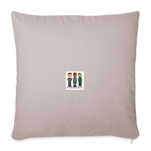 "Throw Pillow Cover 18"" x 18"" - Fill it with liquids!"