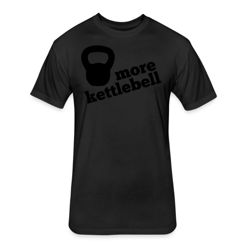More Kettlebell - Black - Fitted Cotton/Poly T-Shirt by Next Level