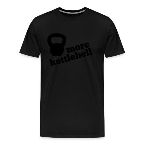 More Kettlebell - Black - Men's Premium T-Shirt