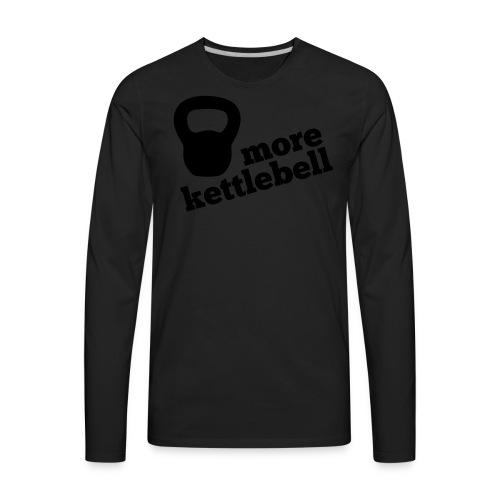 More Kettlebell - Black - Men's Premium Long Sleeve T-Shirt