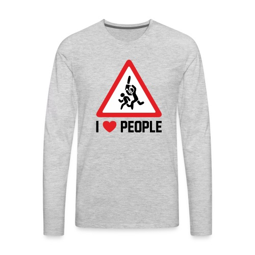 I Love People - Men's Premium Long Sleeve T-Shirt