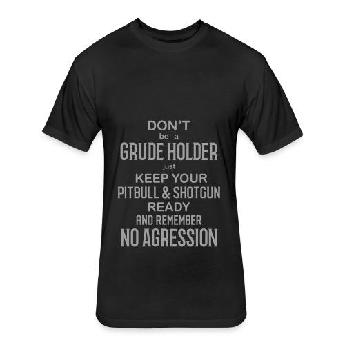 No Agression - Fitted Cotton/Poly T-Shirt by Next Level