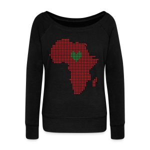 For the Love of Africa - Women's Wideneck Sweatshirt