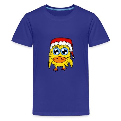 Christmas Cap Penguin  - Kids' Premium T-Shirt